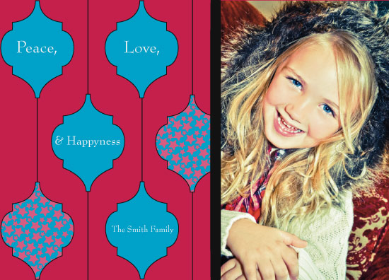 holiday photo cards - Peace Love & Happyness by Lisa Rubin