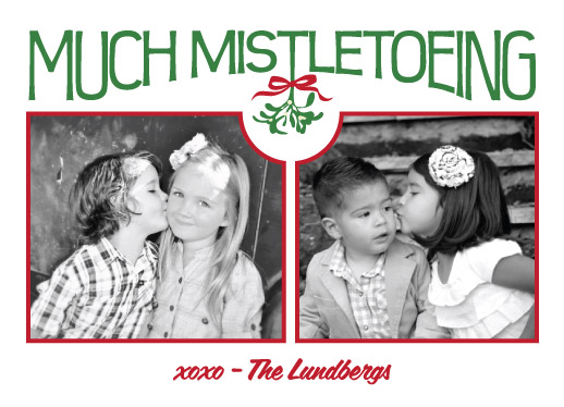 holiday photo cards - much mistletoeing collage by Barbara Lundberg