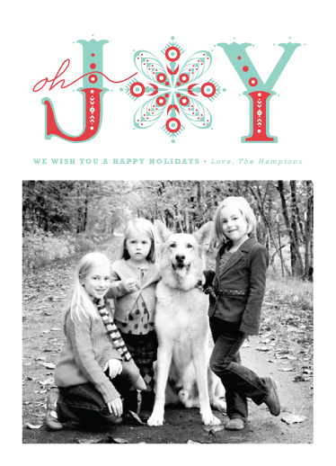 holiday photo cards - Snowflake of Joy by Serenity Avenue