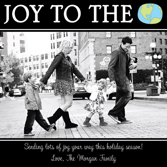 holiday photo cards - Joy to the World by A. Dolan