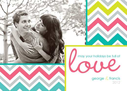 holiday photo cards - full of love by Brittany Dyer