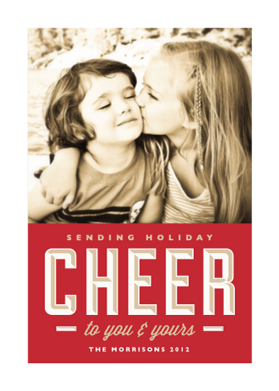 holiday photo cards - Sending Cheer by Alston Wise