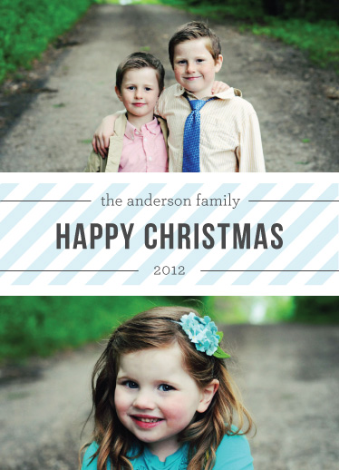 holiday photo cards - Striped Holiday by eskimo design