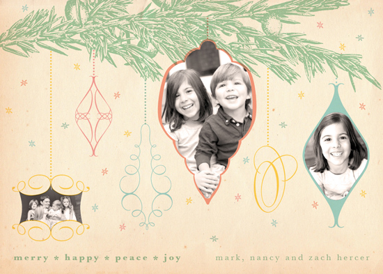 holiday photo cards - Rockin' Around the Christmas Tree Retro by A Plume to the Wind
