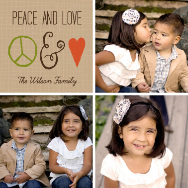 holiday photo cards - Peace & Love by By Birch