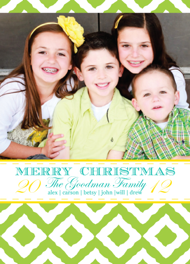 holiday photo cards - i heart ikat by Brittany Dyer