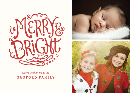 holiday photo cards - Bright Flourishes by Griffinbell Paper Co.