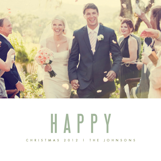 holiday photo cards - We're Happy by Kate Grono