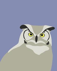 art prints - Great Horned Owl by Jorey Hurley