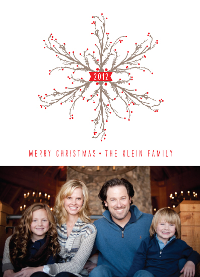 holiday photo cards - Woodland Snowflake by Dreaming Inspirations