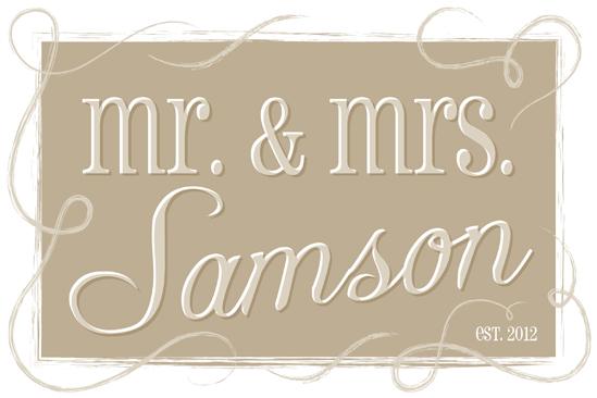 art prints - Mr. & Mrs. by Lisa Zizza McSweeney