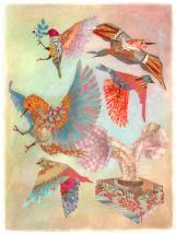 Leslie Horns Print by Jenna Blazevich