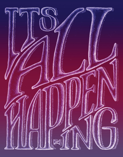 art prints - It's All Happening by Jenna Blazevich