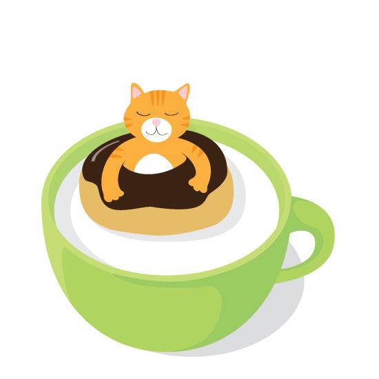 art prints - How cats swim by muffina