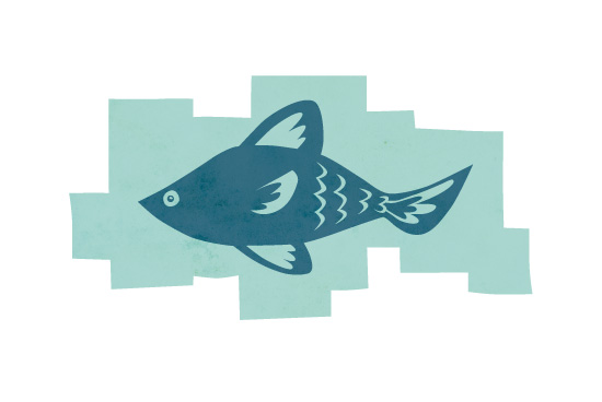 art prints - Fishie 1 by Annette Allen