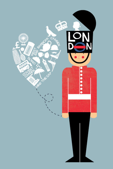 art prints - I Left My Heart In London by Bonjour Berry