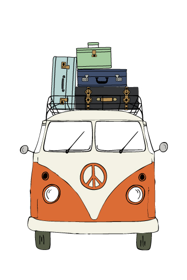 art prints - The Peace Van on the Road by Alston Wise