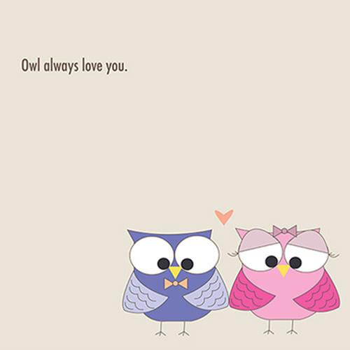 art prints - Owl always love you by Elissa Budziszewski