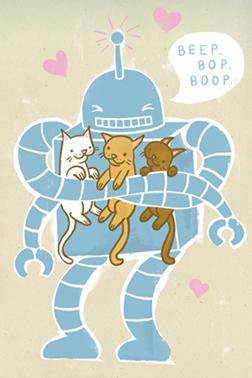 art prints - BEEP. BOP. BOOP. by Heather Lund
