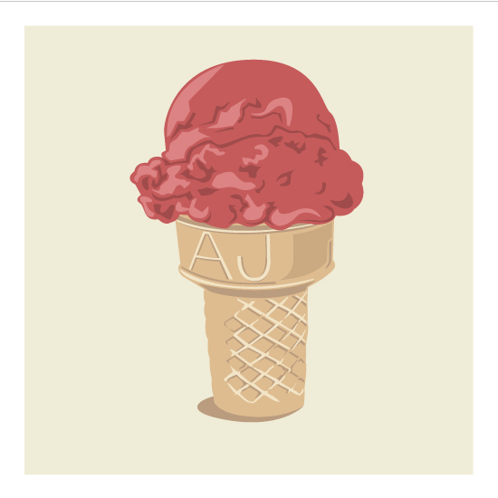 art prints - Ice Cream Monogram by bumble ink