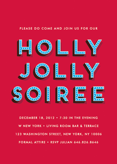 party invitations - holly jolly soiree by Waui Design
