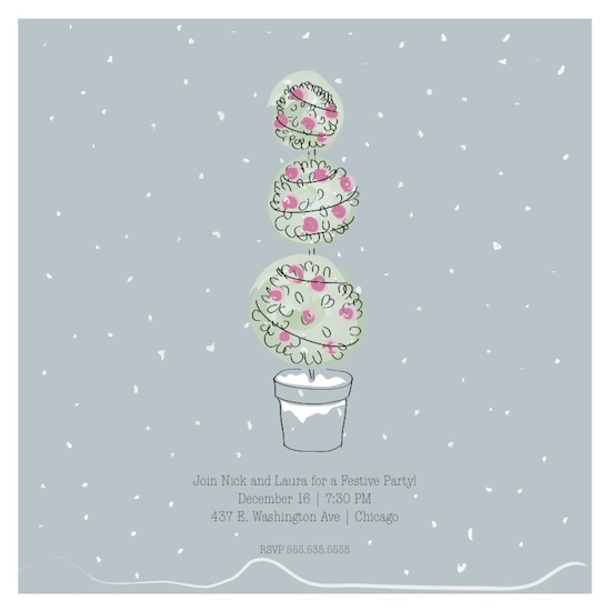 party invitations - First Snowfall by Samantha Kachel