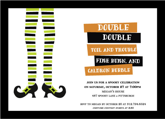 party invitations - Double, Double Toil & Trouble by Jen Gebrosky
