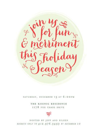 party invitations - Joy & Merriment by Jen Gebrosky