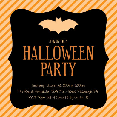 party invitations - Halloween Party Bracket by Amanda Kimsel