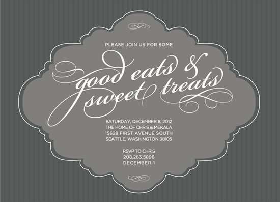 party invitations - Soft and Sweet Treat Holiday by Mekala Tinnin