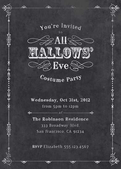 party invitations - All Hallows' Eve by Four Wet Feet Studio