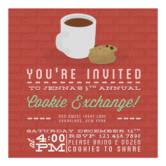 party invitations - Cookies Cookies Cookies by Facing North