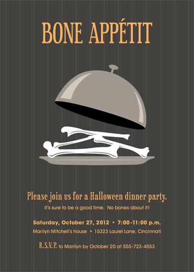party invitations - Bone Appetit by Tanya Pedersen