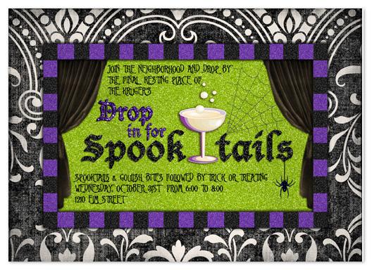 party invitations - Spooktails by Stephanie Blaskiewicz