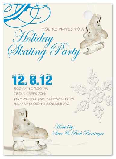 party invitations - Skating Party by Stephanie Blaskiewicz