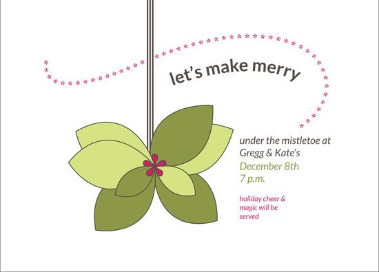 party invitations - mistletoe magic by t-da studio