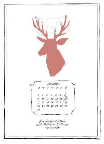 party invitations - Antler Tree by Samantha Kachel