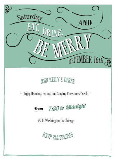 party invitations - Old Tidings by Samantha Kachel
