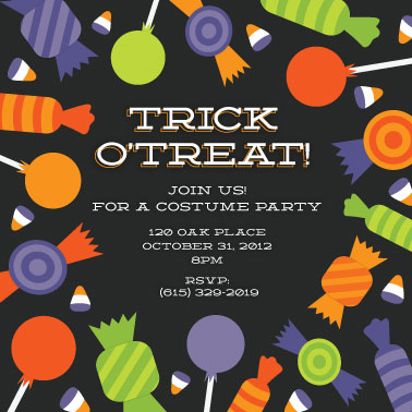 party invitations - I Want Candy by Katherine