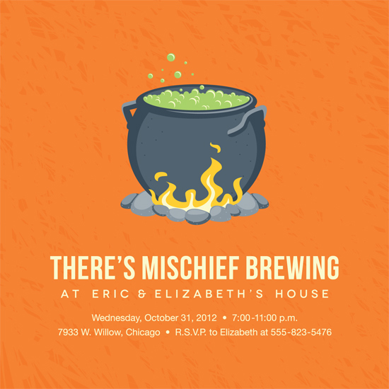 party invitations - Mischief Brewing by Tanya Pedersen