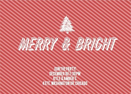 party invitations - Merry & Bright by Samantha Kachel