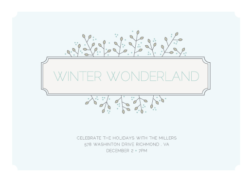 party invitations Winter Wonderland at Minted – Winter Party Invitation