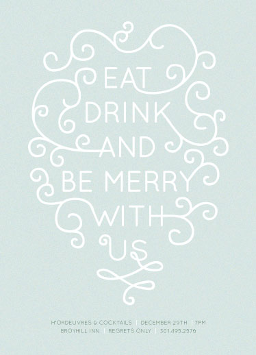 party invitations - Be Merry WIth Us! by Heather.