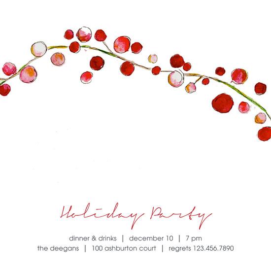 party invitations - simple berries by Erin Deegan