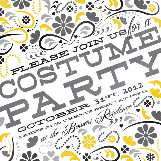 party invitations - woodcut costume party at minted, Party invitations
