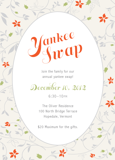 party invitations - Yankee Swap by emily elizabeth stationery