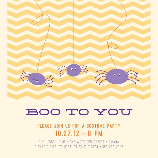 party invitations - Boo To You by Amanda Olson