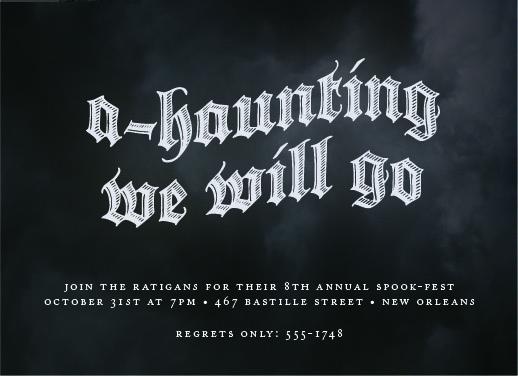 party invitations - A-haunting we will go by sarasponda