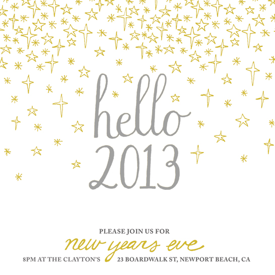 party invitations - Hello 2013 by Anne Was Here