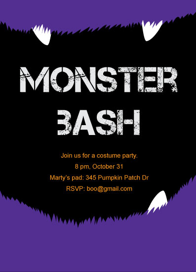 party invitations - Monster Bash by muffina